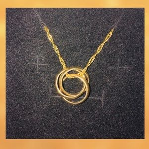 Gold Platted Infinity Ring Necklace